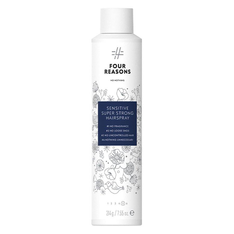 Four Reasons No Nothing Sensitive Super Strong Hairspray 300ml
