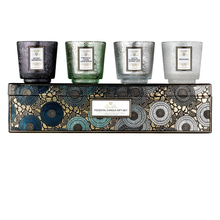 Voluspa Pedestal Cool Tones Gift Set