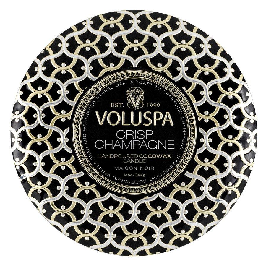 Voluspa 3-Wick Tin Candle Crisp Champagne 340g