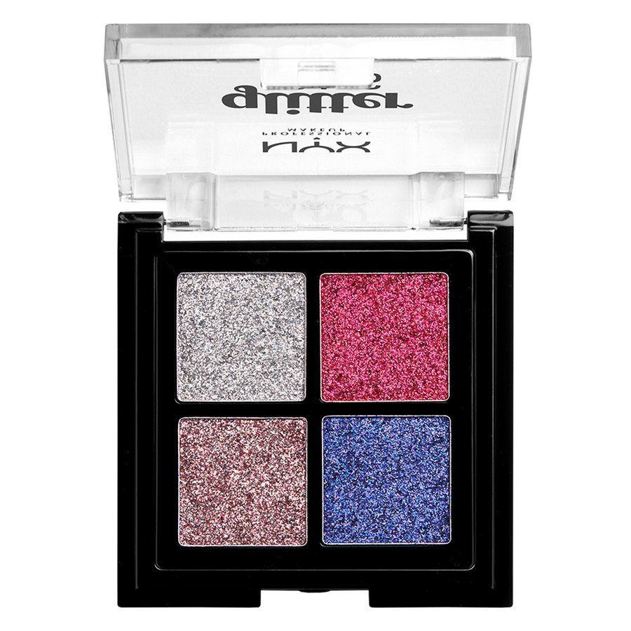 NYX Professional Makeup Glitter Goals Cream Quad Palett - Lv On Tp