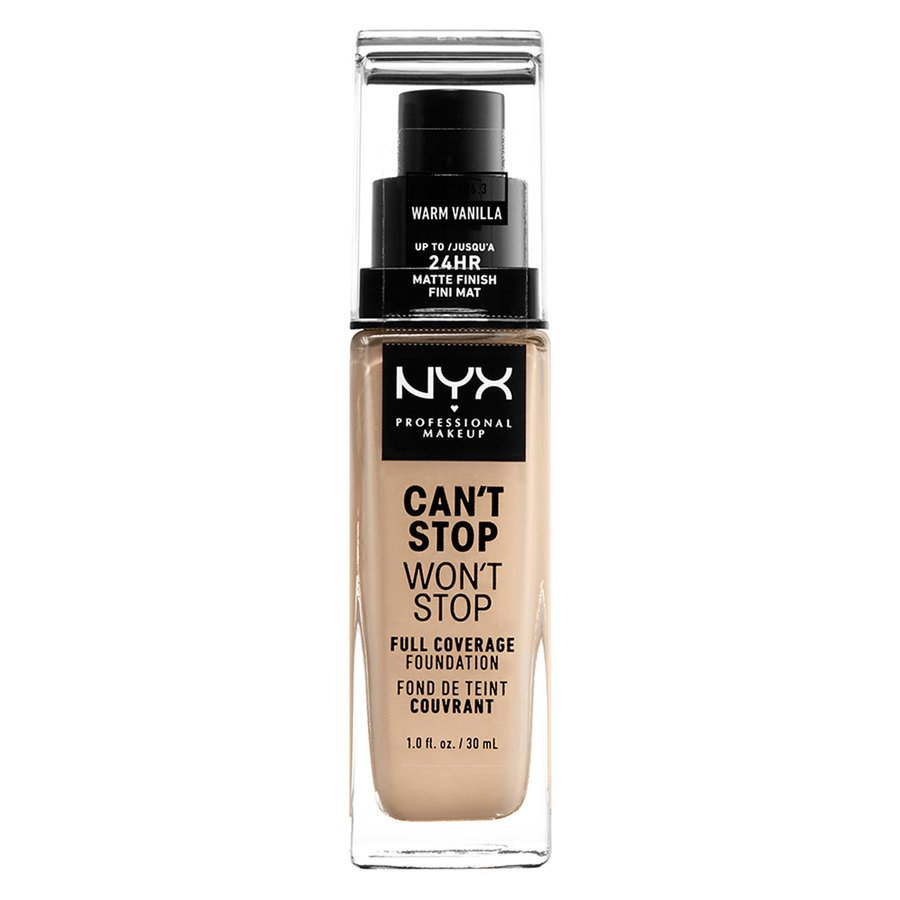 NYX Professional Makeup Can't Stop Won't Stop Full Coverage Foundation Warm Vanilla 30ml