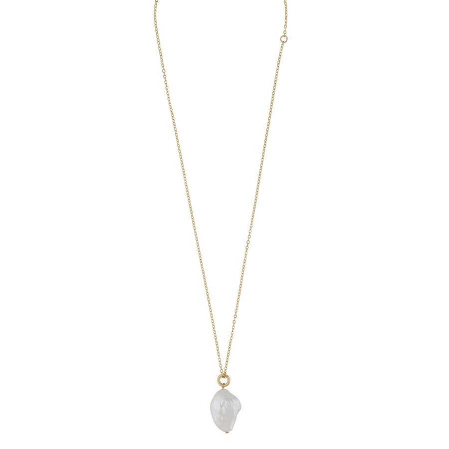 Snö Of Sweden Maxime Pendant Necklace Gold/White 48cm