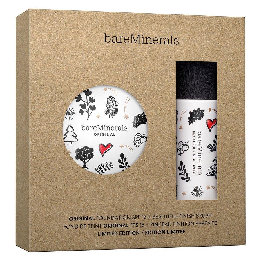 bareMinerals Deluxe Original Foundation SPF15 & Beautiful Finish Brush Kit Fairly Light