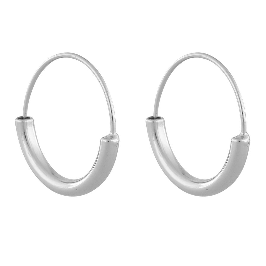 Snö Of Sweden Anglais Ring Earring Plain SIlver 20mm
