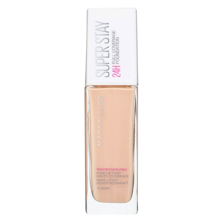 Maybelline Super Stay 24H Full Coverage Foundation 10 Ivory 30ml