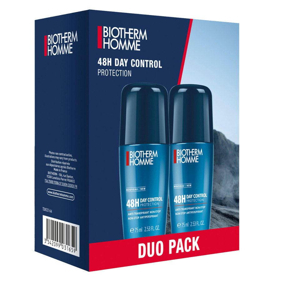 Biotherm Homme Deodorant 48H Day Control Protection Roll-On Duo Set 2x75ml