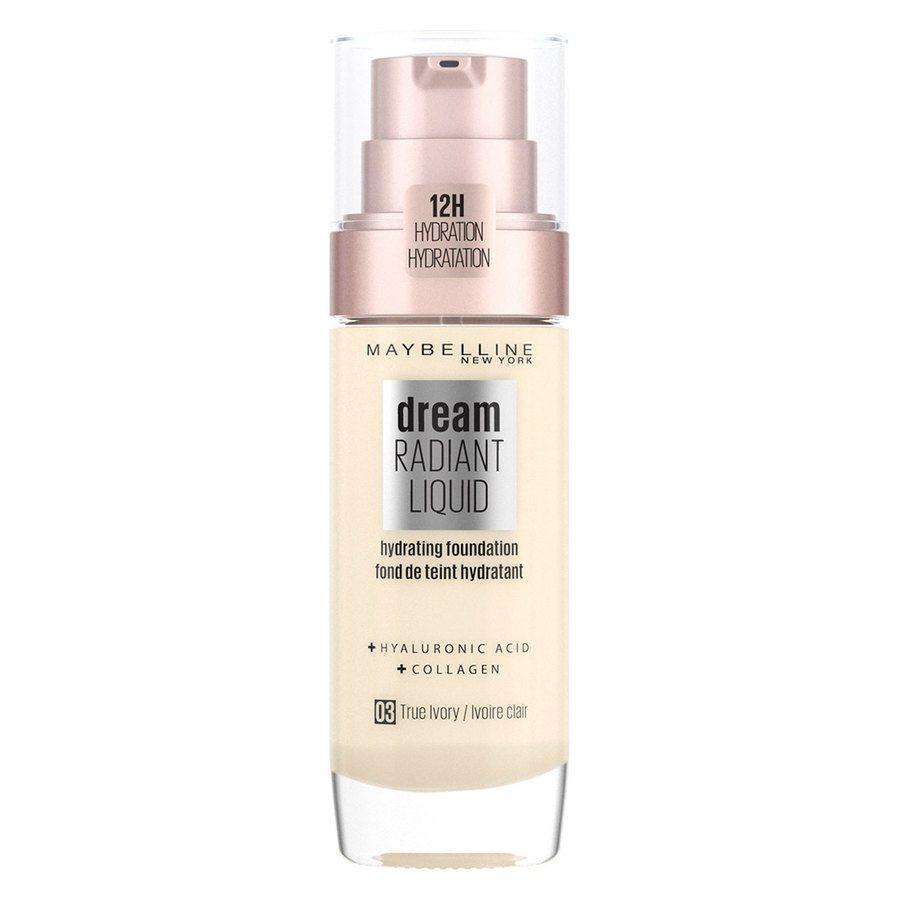 Maybelline Dream Radiant Liquid Foundation #3 True Ivory 30ml