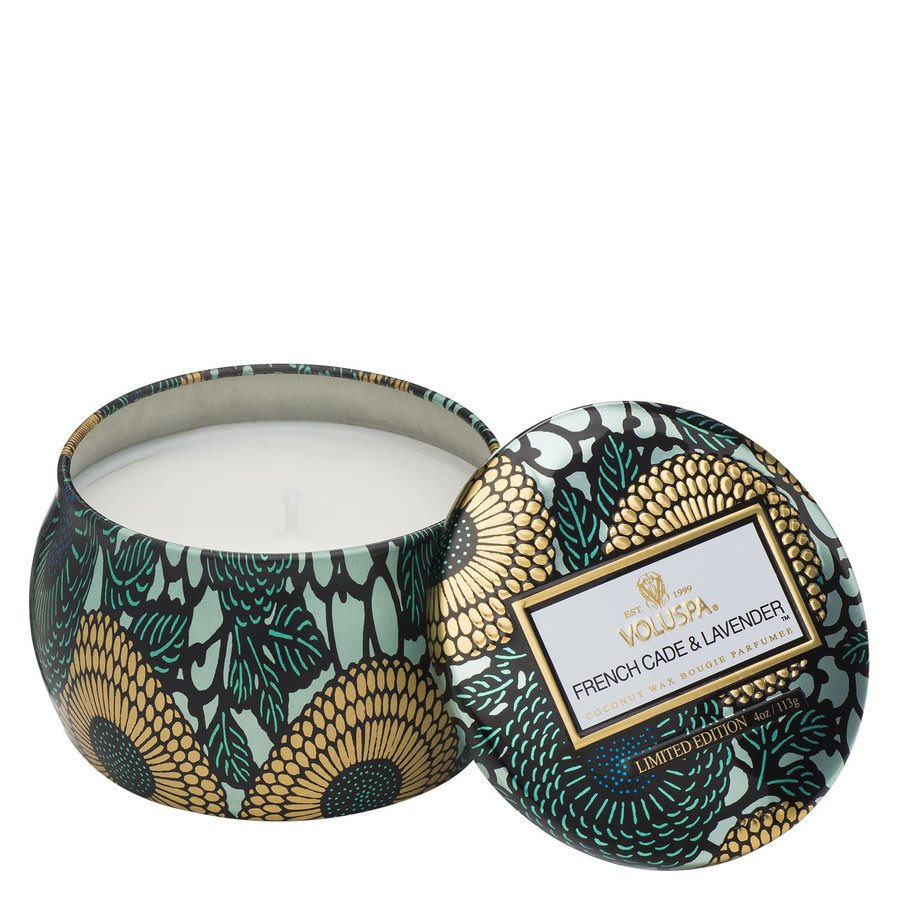 Voluspa Decorative Tin Candle French Cade & Lavender 113g