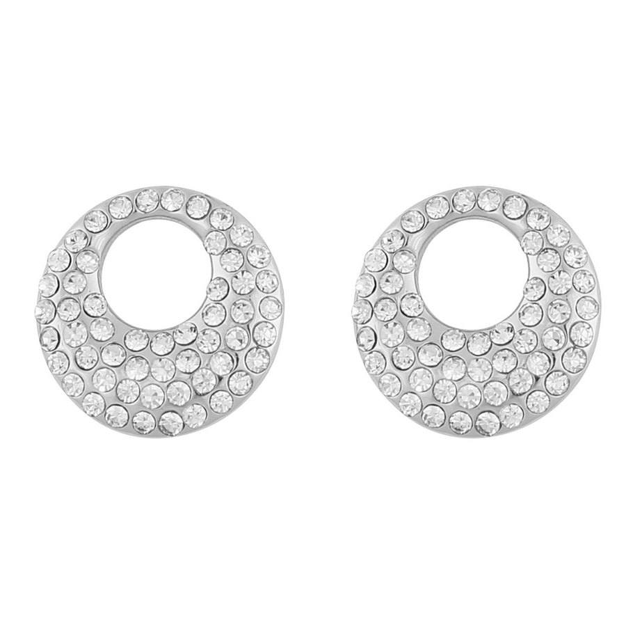 Snö Of Sweden Anglais Small Earring Silver/Clear 12mm