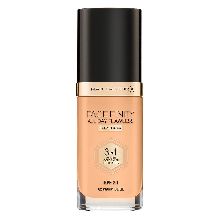 Max Factor Facefinity All Day Flawless 3-In-1 Foundation W62 Warm Beige 30ml