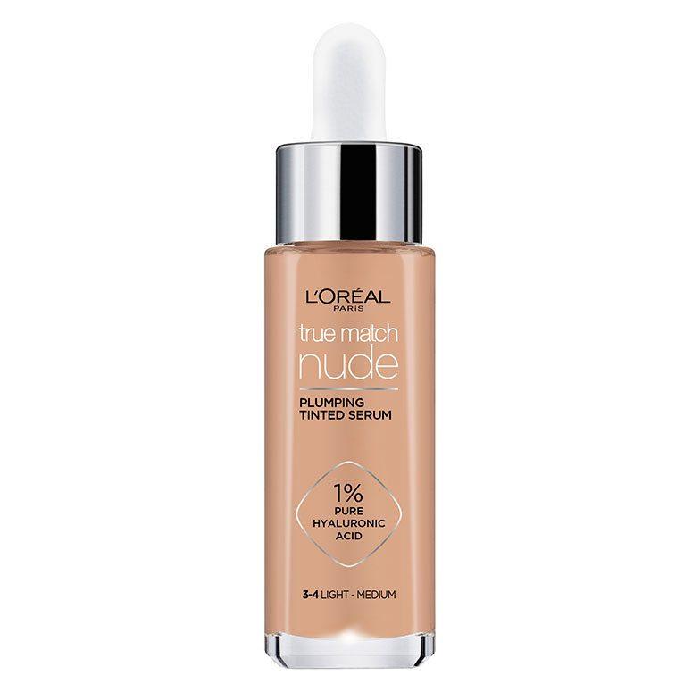 L'Oréal Paris True Match Nude Plumping Tinted Serum 3-4 Light-Medium 30ml