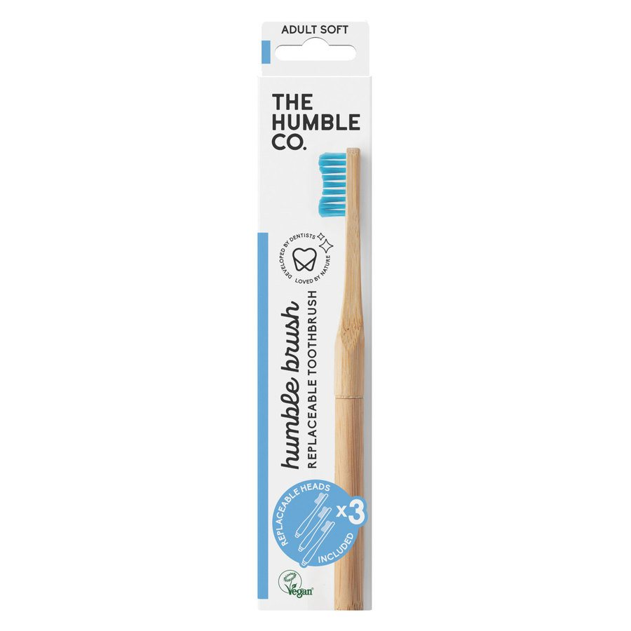 The Humble Co Humble Brush Interchangeable Head Blue Soft