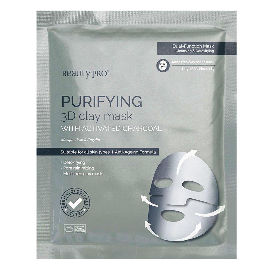 BeautyPro Purifying 3D Clay Sheet Mask 18g