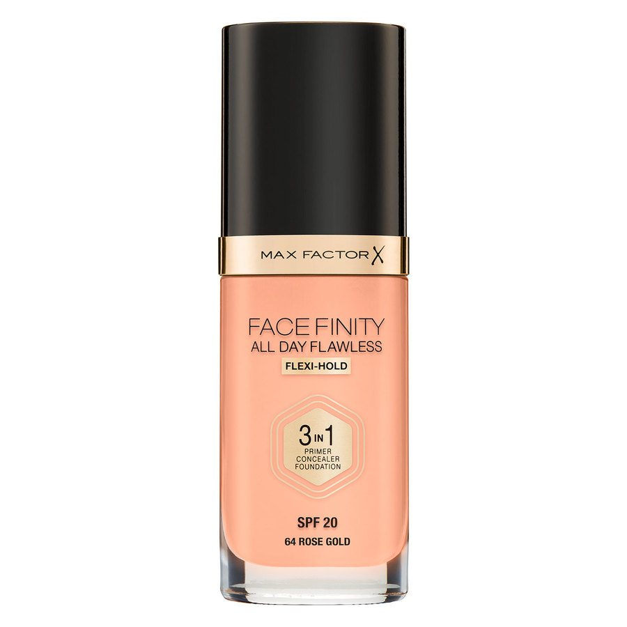 Max Factor Facefinity All Day Flawless 3-In-1 Foundation C64 Rose Gold 30ml