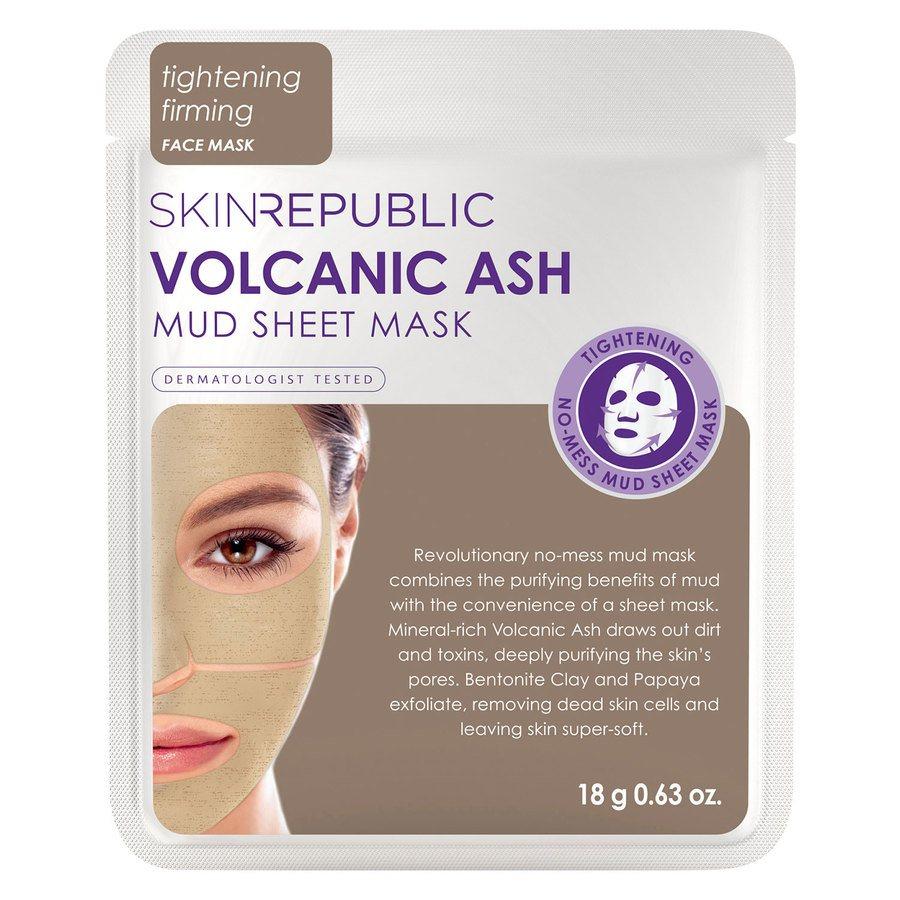Skin Republic Volcanic Ash Mud Sheet Face Mask 18g