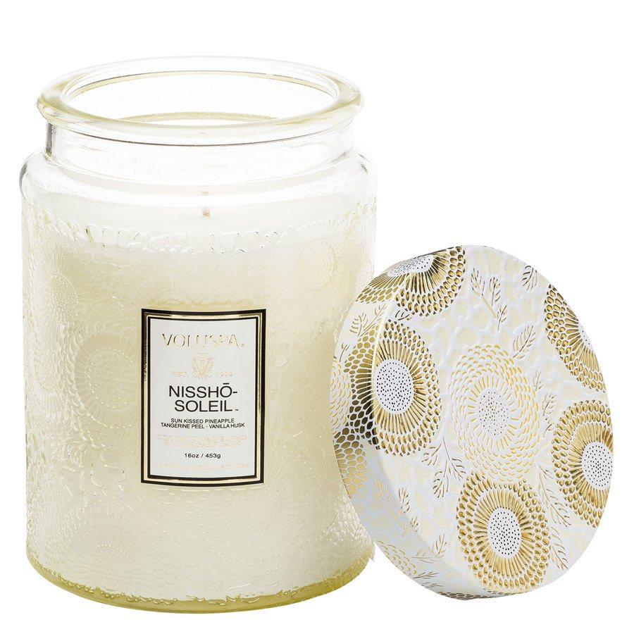 Voluspa Large Glass Jar Candle Nissho Soleil  455g