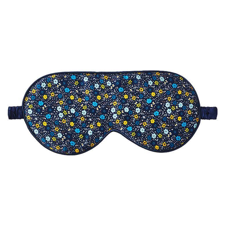 Fan Palm Sleeping Eye Mask Silk Cornflower Blue 20x10cm