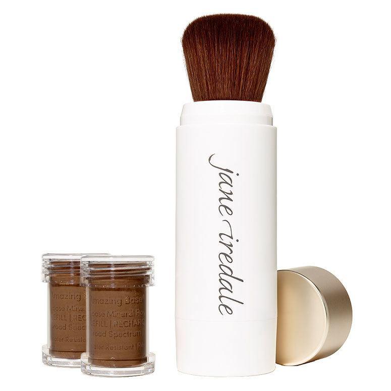 Jane Iredale Amazing Base Refillable Brush Cocoa 2x Refills