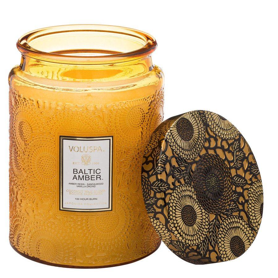 Voluspa Large Glass Jar Candle Baltic Amber 455g