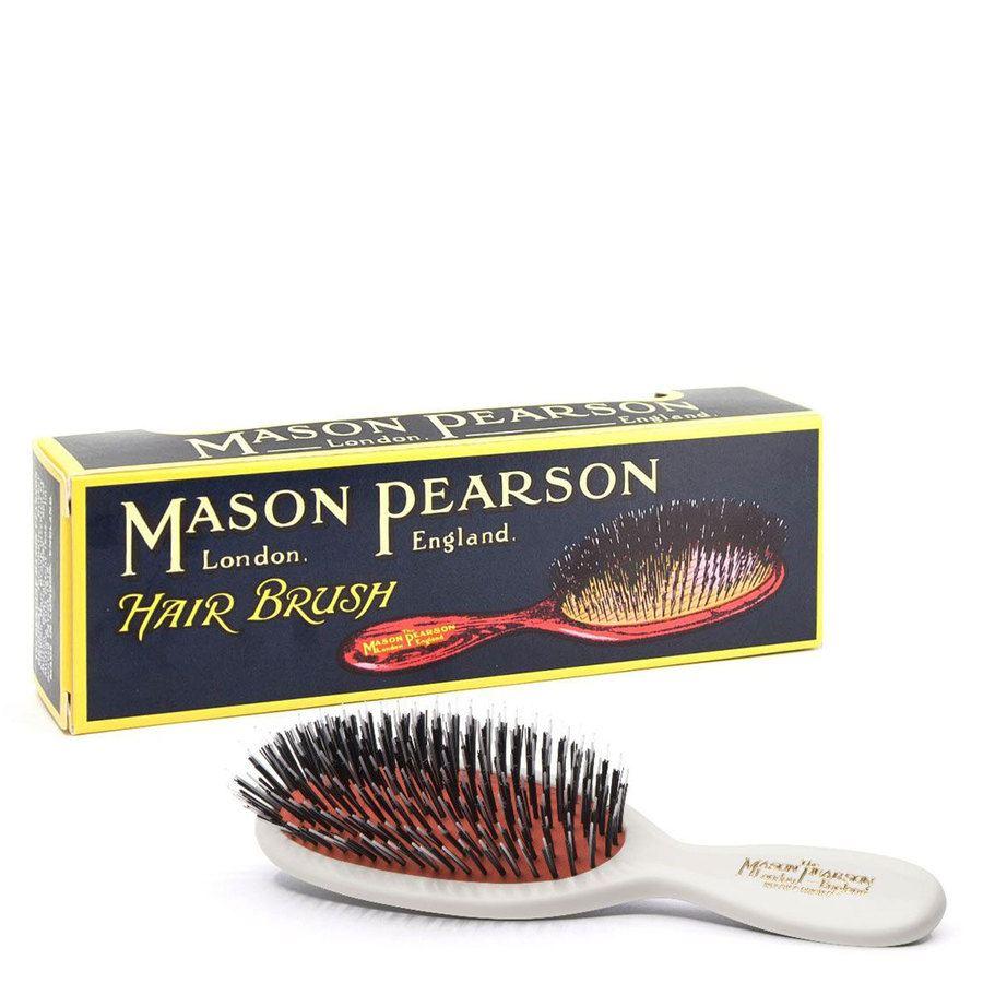 Mason Pearson Brush Bn4 Pocket Bristle/Nylon- White