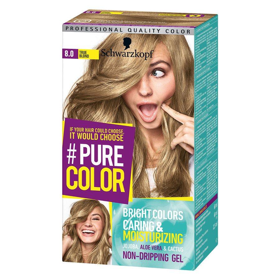 Schwarzkopf Pure Color 8.0 True Blond 142g