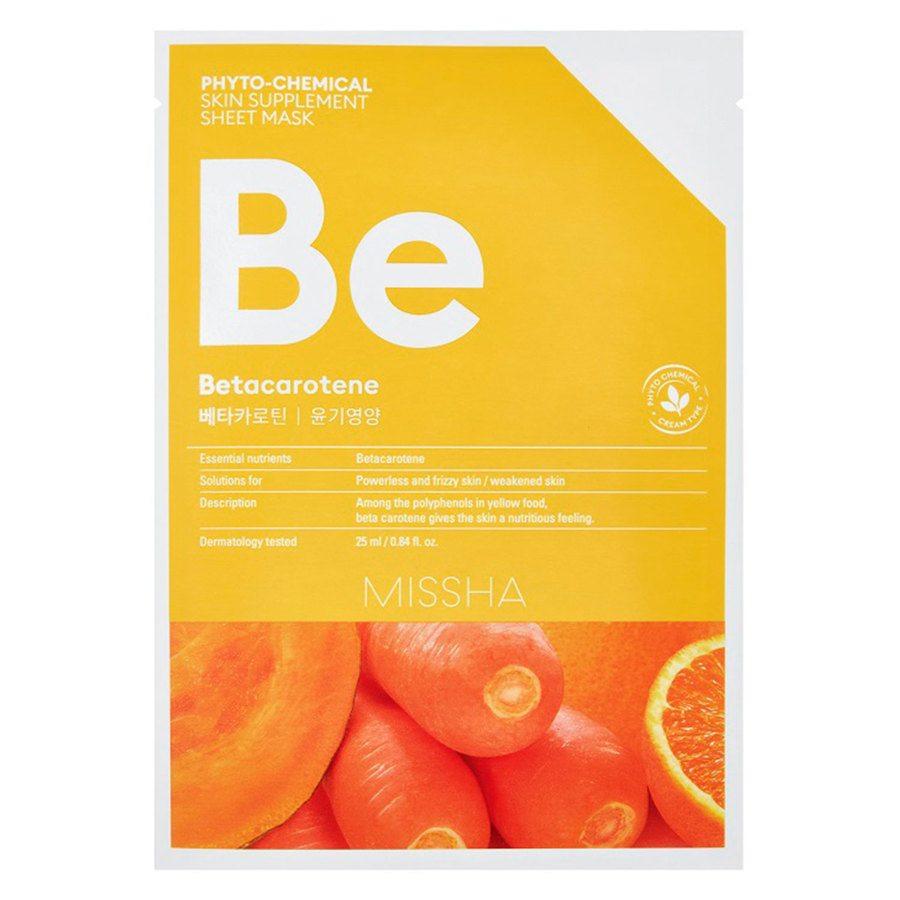 Missha Phytochemical Skin Supplement Sheet Mask Betacarotene25ml