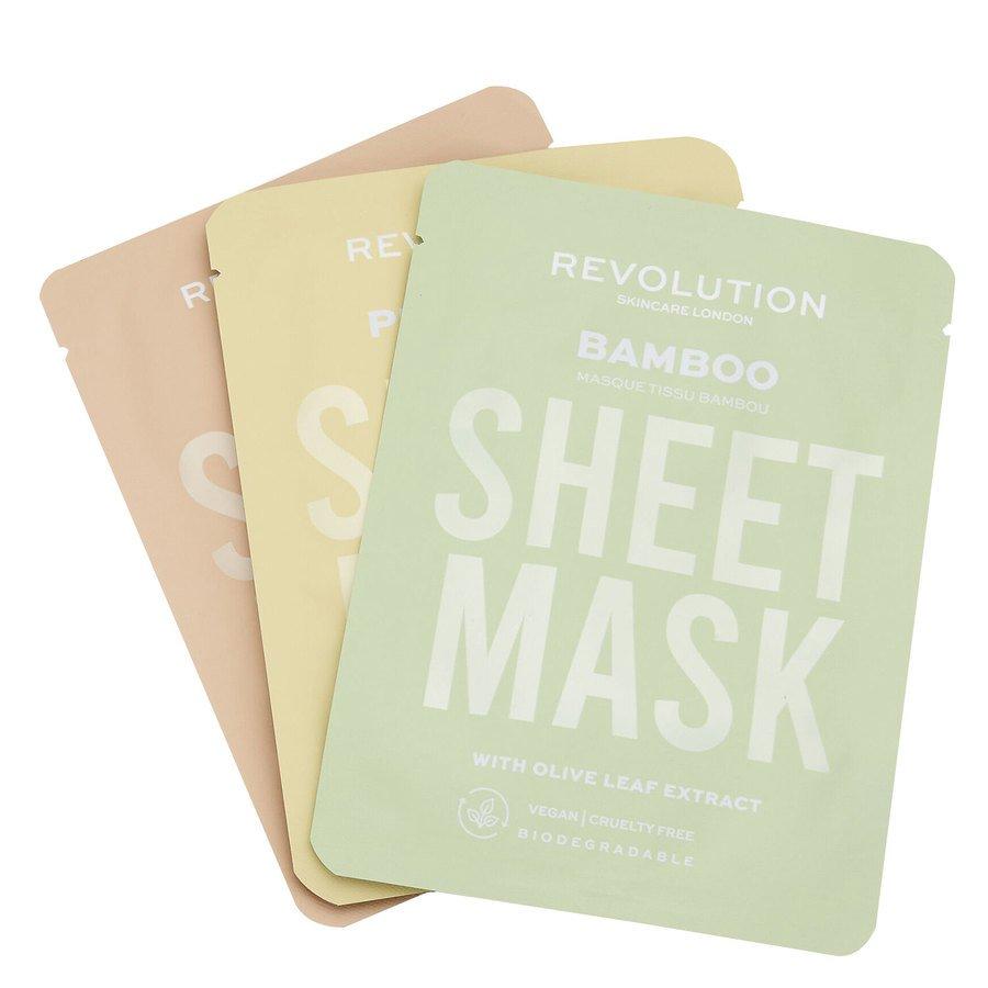 Revolution Beauty Revolution Skincare Biodegradable Dry Skin Sheet Mask 3pcs