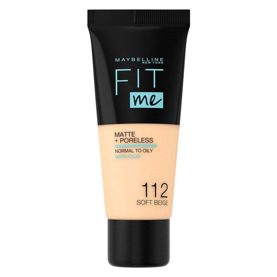 Maybelline Fit Me Matte + Poreless Foundation Soft Beige #112 30ml