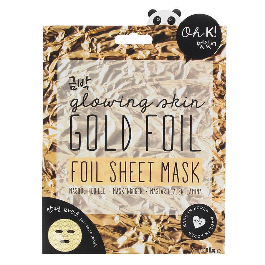 Oh K! Glowing Skin Gold Foil Sheet Face Mask 35ml