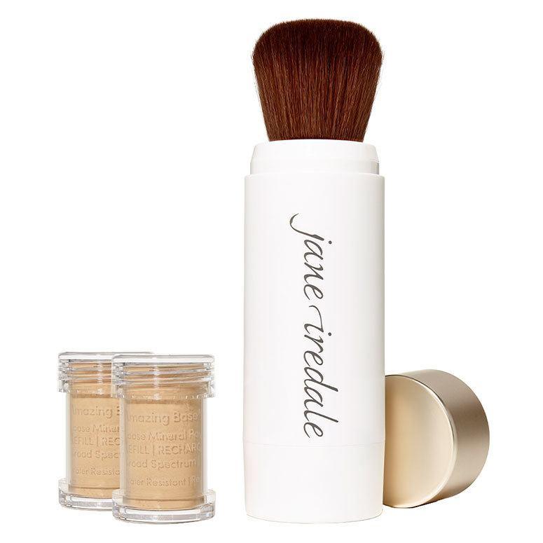 Jane Iredale Amazing Base Refillable Brush Warm Sienna 2x Refills