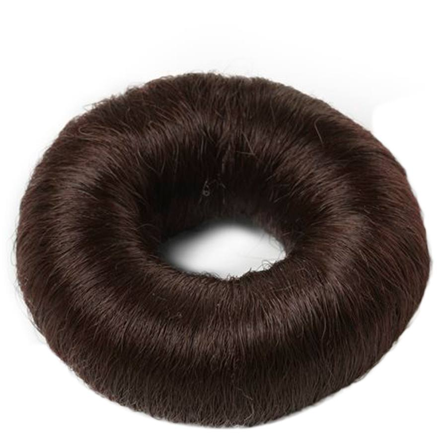 Hair Accessories Synthetic Hair Bun Small Brown