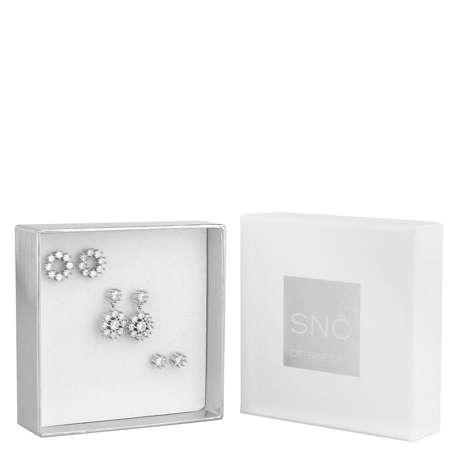 SNÖ of Sweden Crystal Vintage Ear Set Silver/Clear