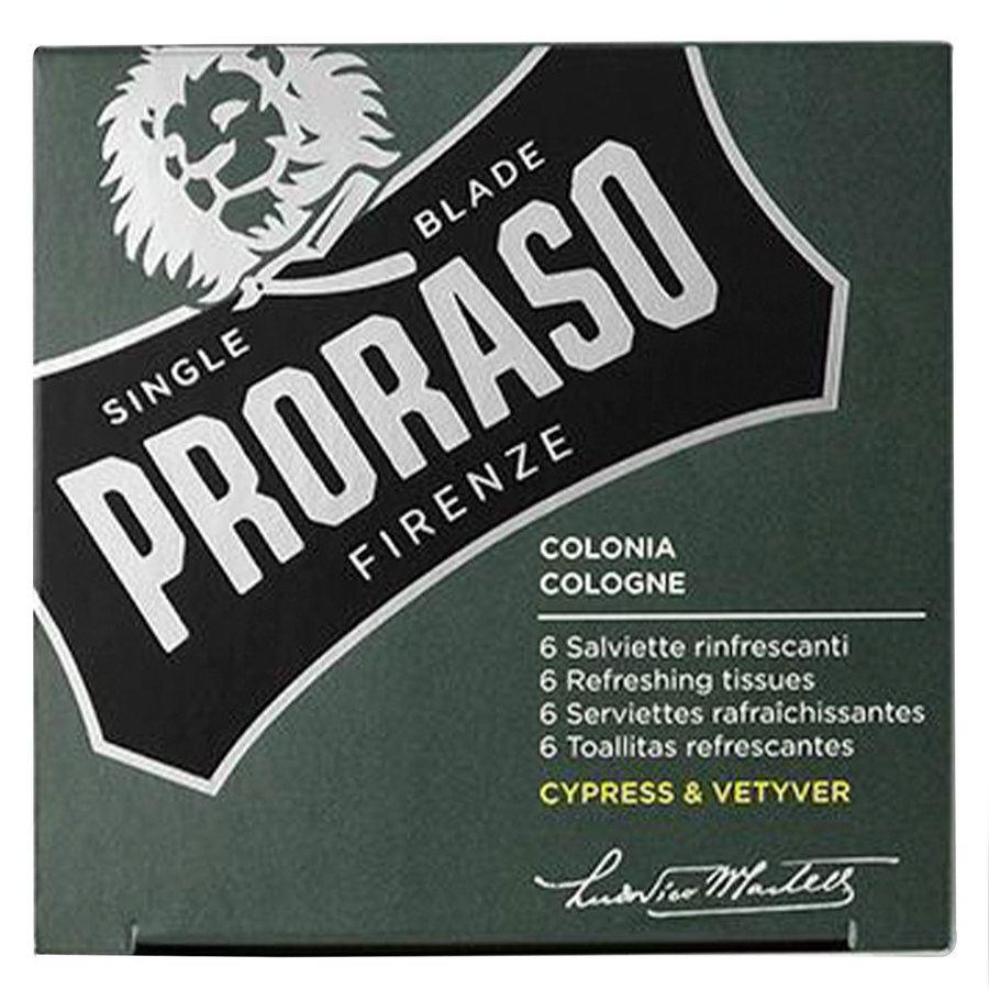 Proraso Beard Wipes Cypress & Vetyver 6pcs