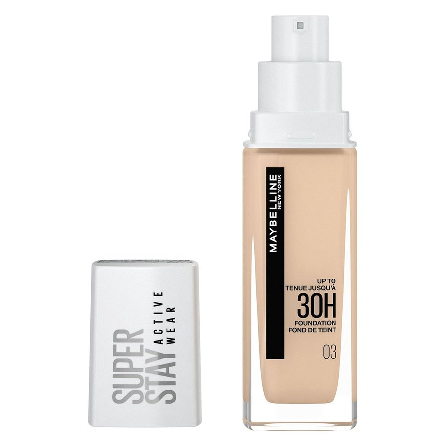 Maybelline 30H Superstay Active Wear Foundation True Ivory 30ml