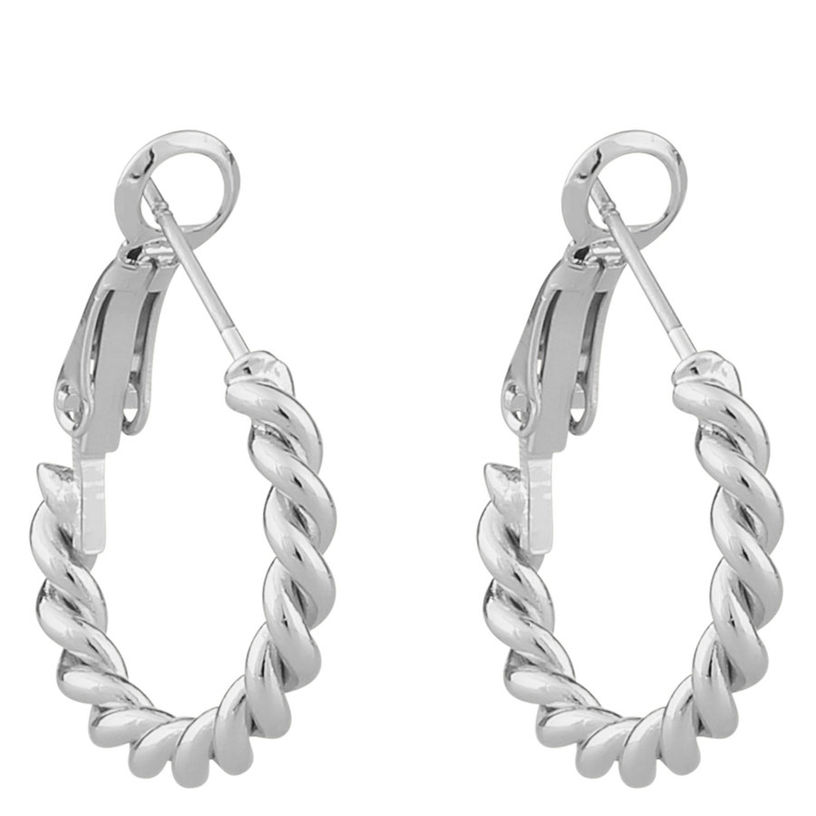 Snö Of Sweden Way Small Ring Earring Plain Silver