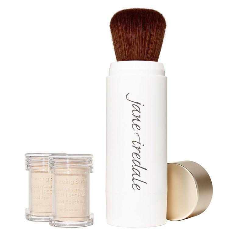 Jane Iredale Amazing Base Refillable Brush Ivory 2x Refills