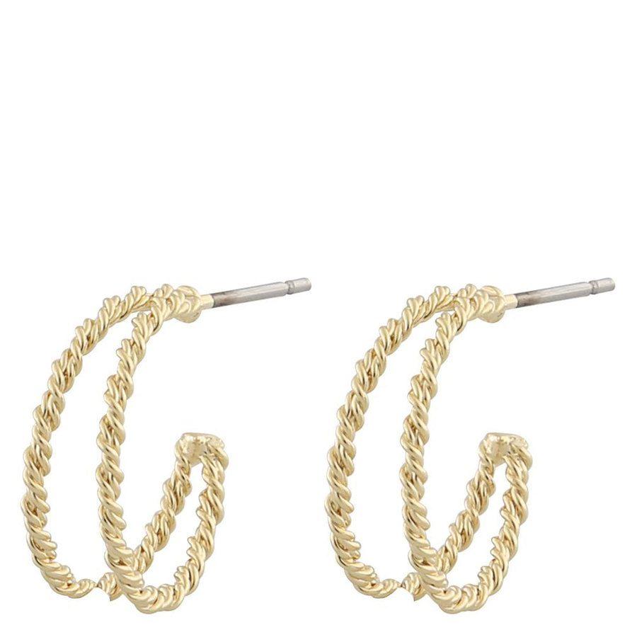 Snö Of Sweden Marion Small Ring Earring Plain Gold 12mm
