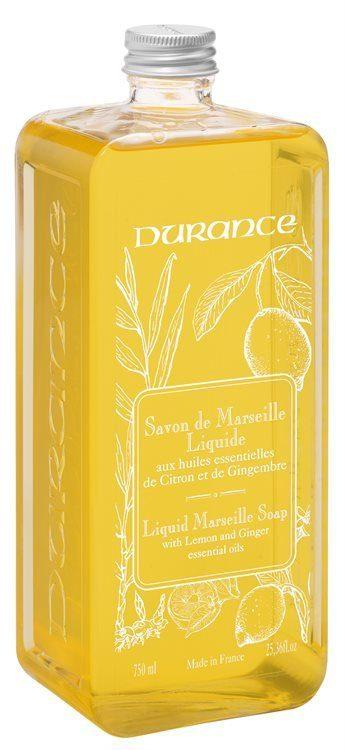 Durance Liquid Marseille Soap With Sitron/Ingefær Refill 750ml