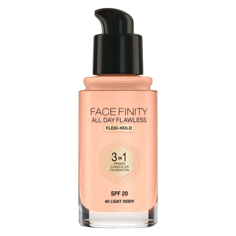 Max Factor Facefinity All Day Flawless 3-In-1 Foundation #40 Light Ivory 30ml