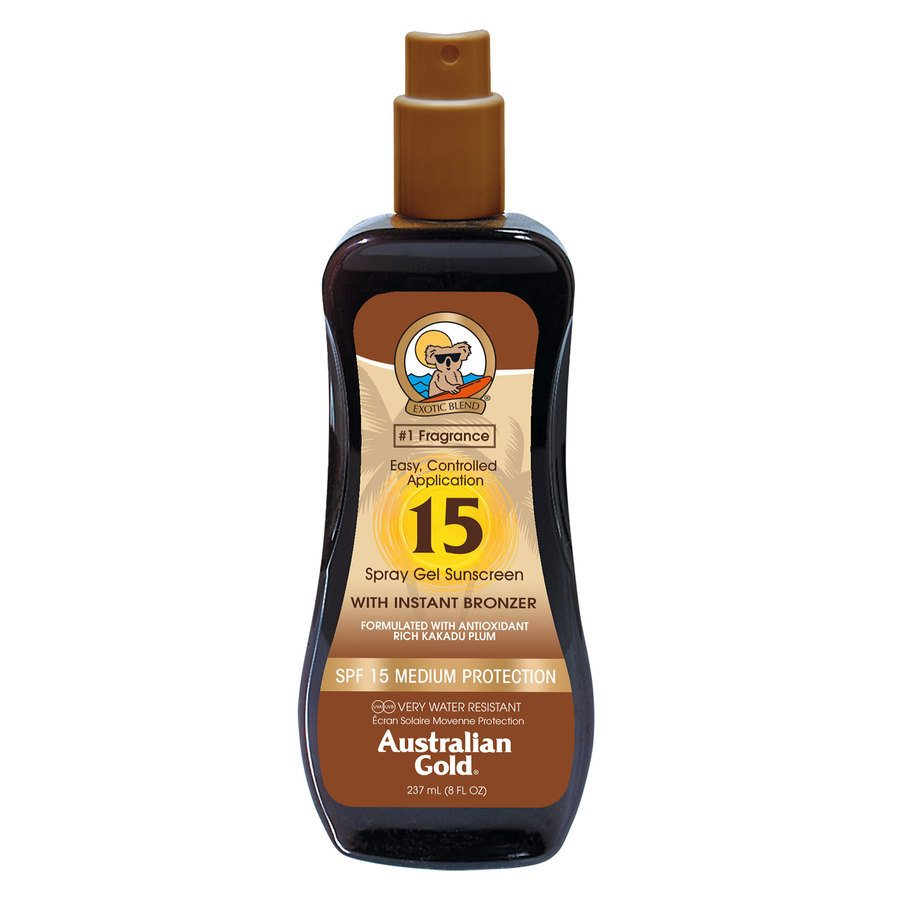 Australian Gold Spray Gel SPF 15 With Instant Bronzer 237ml