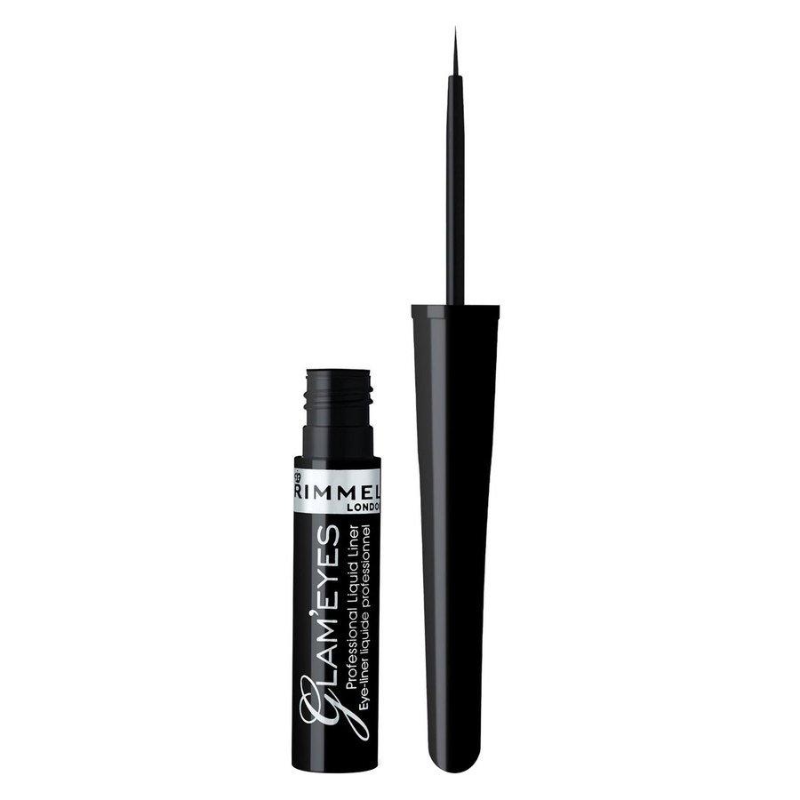 Rimmel London Glam'eyes Professional Liquid Liner #001 Black Glamour 3,5ml