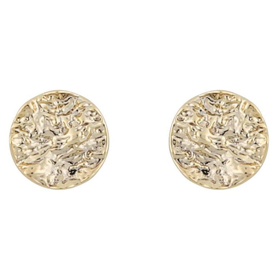 Snö Of Sweden Rue Small Coin Earring Plain Gold 8mm