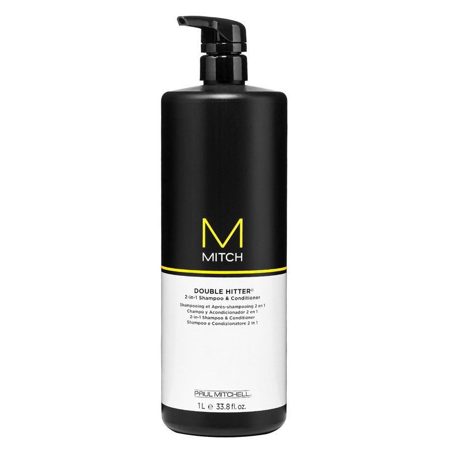 Paul Mitchell Mitch Double Hitter 2-in-1 Shampoo & Conditioner 1000ml