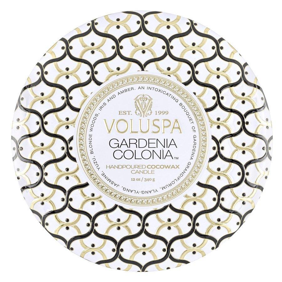 Voluspa 3-Wick Tin Candle Gardenia Colonia 340g