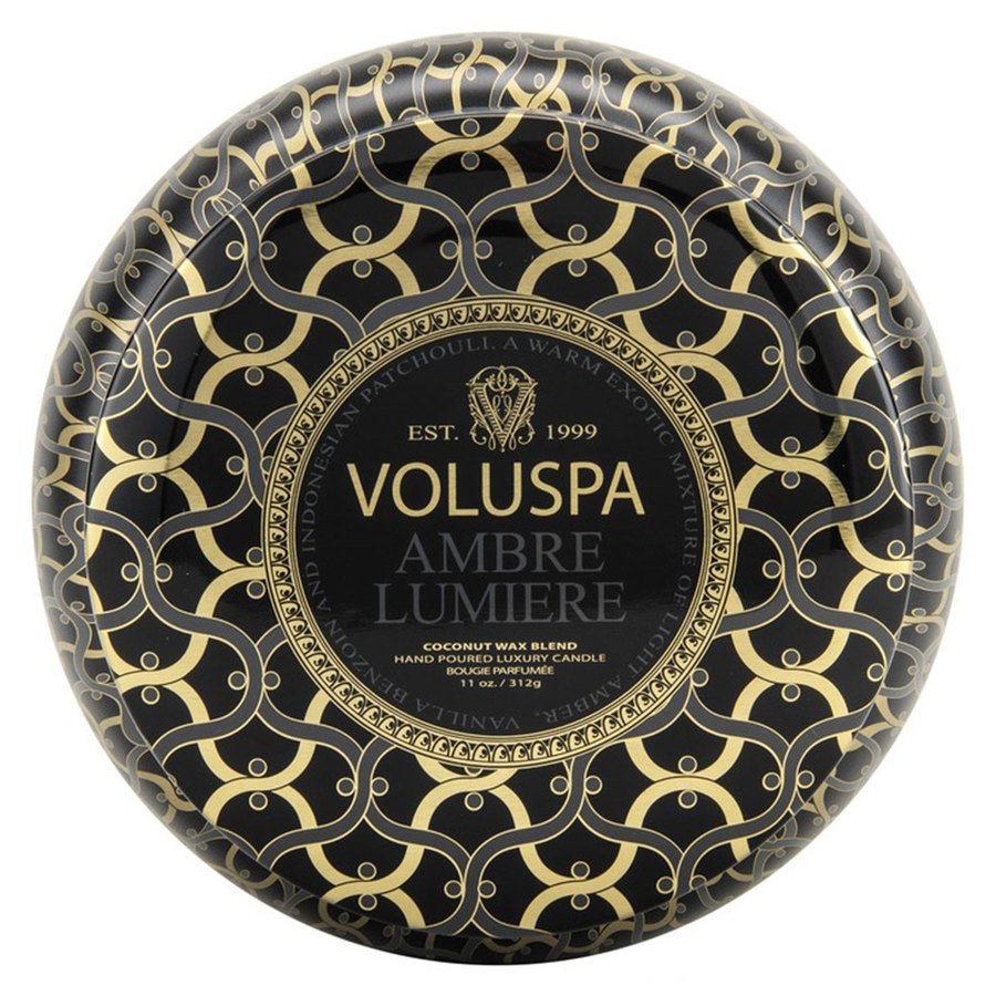 Voluspa 2-Wick Maison Metallo Candle Ambre Lumiere 312g