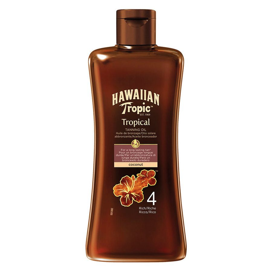 Hawaiian Tropic Tan Oil Rich SPF4 200ml