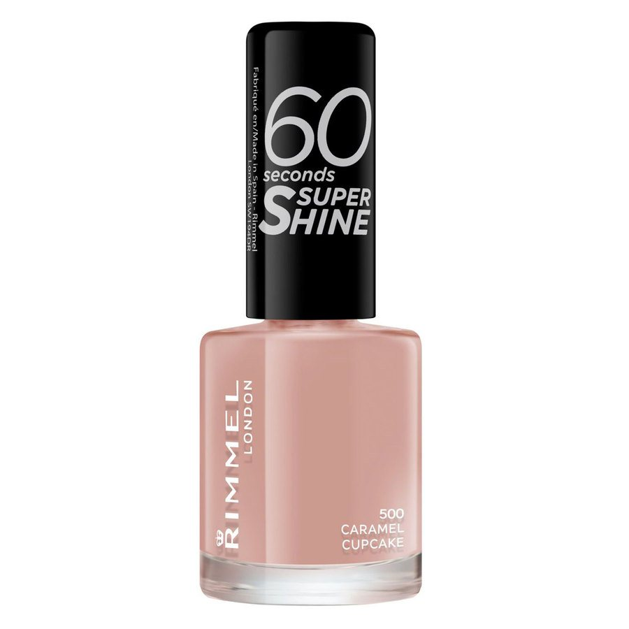 Rimmel London 60 Seconds Super Shine Nail Polish #500 Caramel Cupcake 8ml