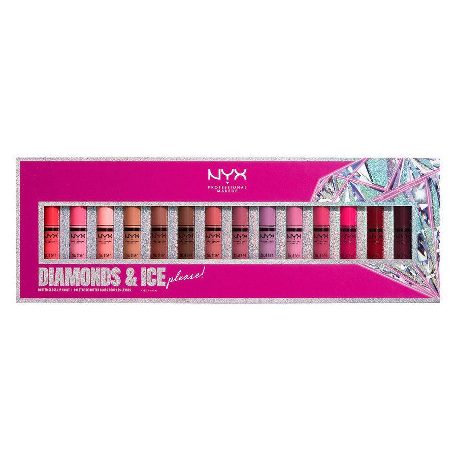 Xmas Diamonds & Ice Butter Gloss Vault 14x8ml