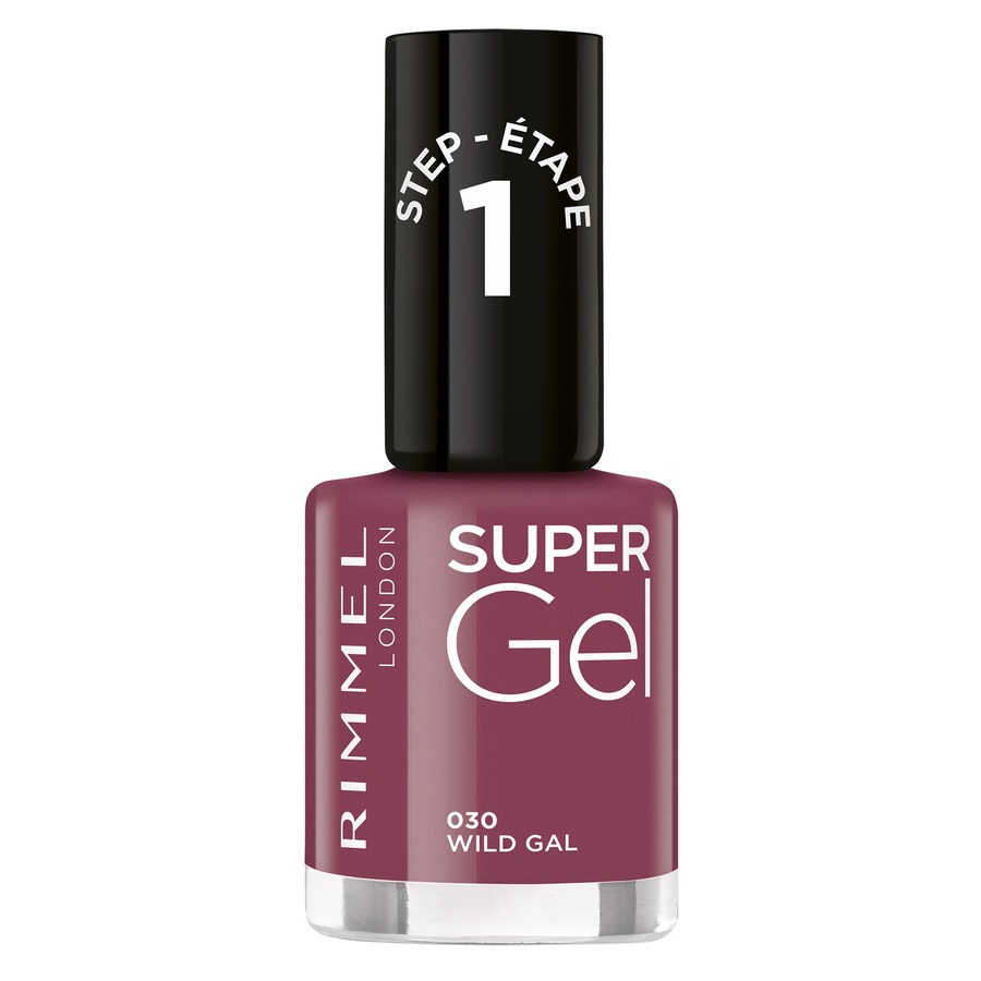 Rimmel London Super Gel Nail Polish 030 Wild Gal 12ml