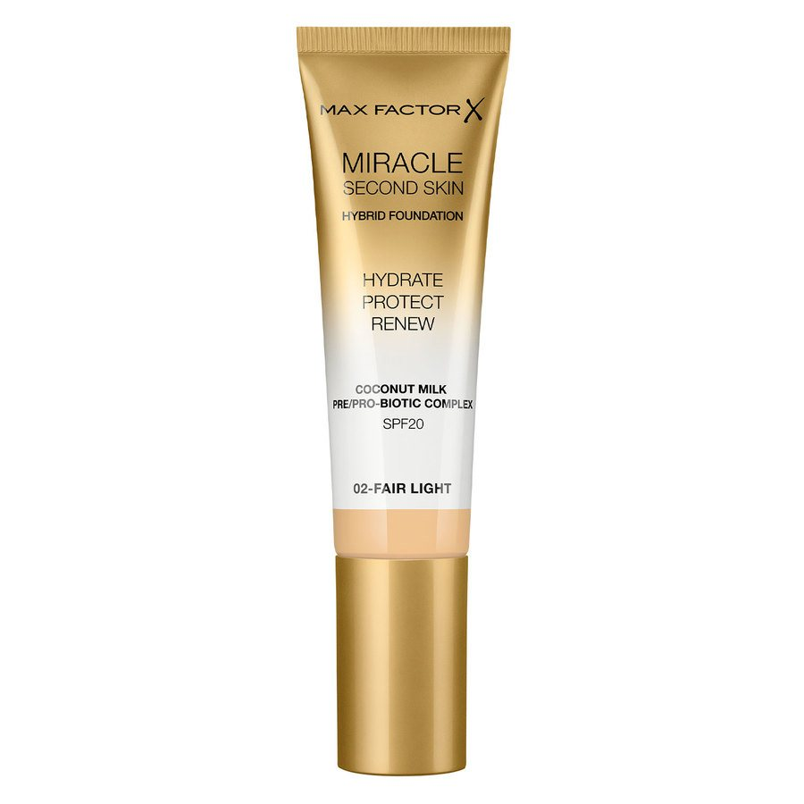 Max Factor Miracle Second Skin Foundation - #002 Fair Light 33ml